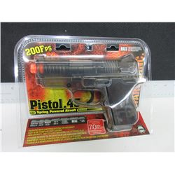 New Air Soft .45 Cal Pistol 200fps spring powered / large Magazine 70bb's