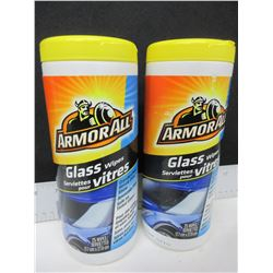 2 New Armor All Glass Wipes / 25ct each
