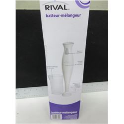 New Rival Hand Blender beaker inc./ stainless blade chops,purees,minces & blends