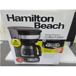 New Hamilton Beach 12 Cup Programmable Coffee Maker / auto shut off and more