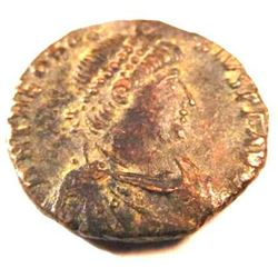 Bronze Coin of Theodosius I (379-395 A.D.)