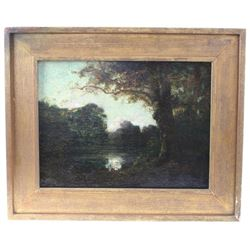 19thc Style Of Corot, Signed Landscape Painting