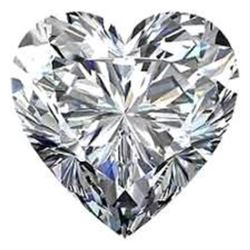 4ct Heart Facet BIANCO Diamond