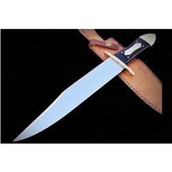 Handmade Hi Carbon Polished Steel Bowie Knife - Gorgeous Handle
