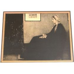 "1935 Framed Print ""My Mother"" by Whistler"