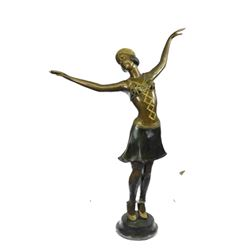 "Life Size Bronze Metal Chiparus Dancer Statue 59"" Tall (almost 5 ft)"