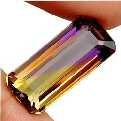 12.2ct. Bi-Color ~ Purple & Gold Ametrine Emerald