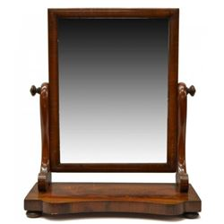 19thc French Empire Walnut Dressing Mirror