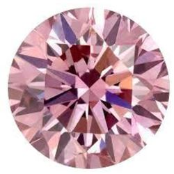 6ct Round Brilliant Cut Pink BIANCO Diamond