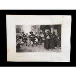 1880's Photogravure Print, Fete, Parade