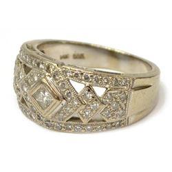 Vintage Estate 14kt White Gold & Diamond Ring