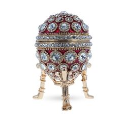 Round Crystals Royal Inspired Russian Egg 2.6 Inches