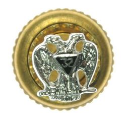 14kt Gold 32nd Degree Masonic Lapel Pin