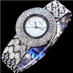Women's Stainless Steel & Crystal Quartz Bracelet Wrist Watch