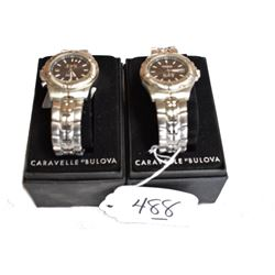Caravelle Bulova Watches In Boxes