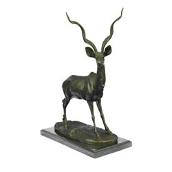 "Kudu Antelope Gazelle or Impala Bronze Sculpture 14"" x 10.5"""