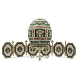 1912 Napoleonic Russian Faberge-Inspired Egg with Picture Frames