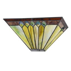 """GRAHAM Tiffany-style 1 Light Mission Indoor Wall Sconce 12"""" Wide"""