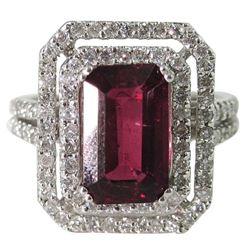 Lady's 14K White Gold Rubelite Dinner Ring
