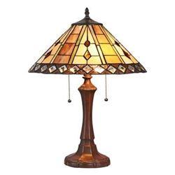 "GODWINE Tiffany-style 2 Light GeometricTable Lamp 16"" Shade - Table Lamp"