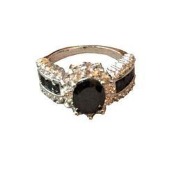 4ct Black Sapphire Cruise Ring