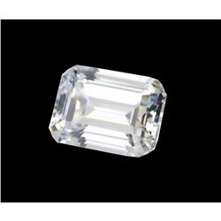 Exceptional, clean, 6 Ct, Emerald Step-cut BIANCO Diamond^6AA 12x10mm