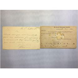 1884 London Original Postmarked Handwritten and Typed Post Card