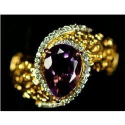 3.01 Ct. Amethyst Pear Shaped Ring