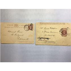 1800s London Original Postmarked Handwritten Envelope with Post Card