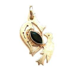 Sterling Silver & Crystal Bird Pendant