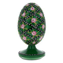 1907 Rose Trellis Royal Wooden Egg