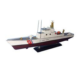 "Wooden United States Coast Guard USCG Coastal Patrol Model Boat Limited 18"""