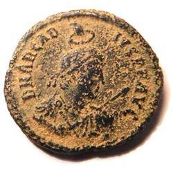 Bronze Coin of Arcadius (383-408 A.D.) - RARE