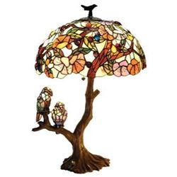 """4 Light Double Lit Table Lamp 19"""" Oval Shade"""