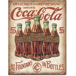 COKE - 5 Bottles Retro