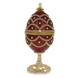 """Faberge Inspired 5.4"""" Real Eggshell Royal Inspired Russian Egg with Music Box"""