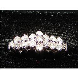 14kt White Gold & Diamond Anniversary Ring