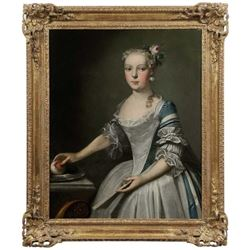 18thc Untitled Portrait of a Young Lady