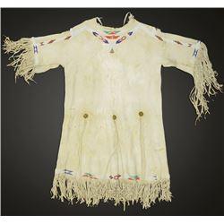 Crow Beaded Buckskin Girl's Dress