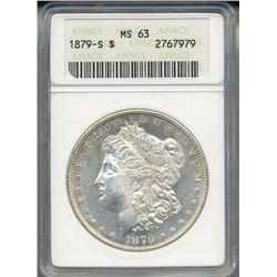 1879-S $1 Morgan Silver Dollar Coin ANACS MS63
