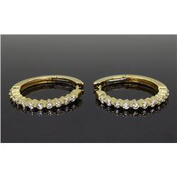 14KT Yellow Gold 0.50ctw Diamond Earrings