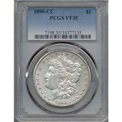 1890-CC $1 Morgan Silver Dollar Coin PCGS VF35