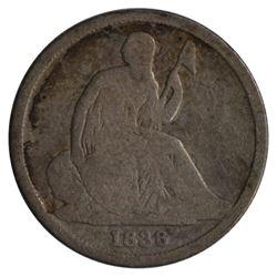 1838-O Seated Liberty No Stars Dime