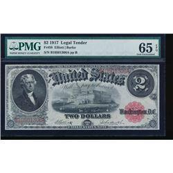 1917 $2 Legal Tender Note PMG 65EPQ