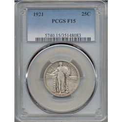 1921 Standing Liberty Quarter Coin PCGS F15