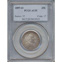 1897-O Barber Quarter Coin PCGS AU55