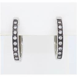 14KT White Gold 0.25ct Diamond Earrings