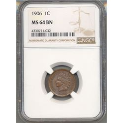1906 Indian Head Cent PCGS MS64BN