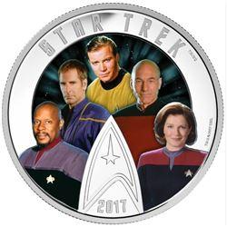 2017 $30 Star TrekTM: Five Captains - Pure Silver