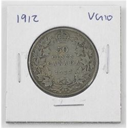 1912 Canada Silver 50 Cent. VG10